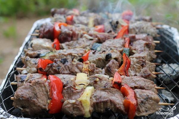 шашлык из телятины в духовке рецепты с фото